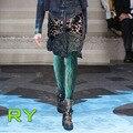 Mujeres Medias Collant Medias Nueva Venta 2016 de la Mujer de Moda Runway Parece Serpiente En El Otoño Y el Invierno De Impresión Pantimedias