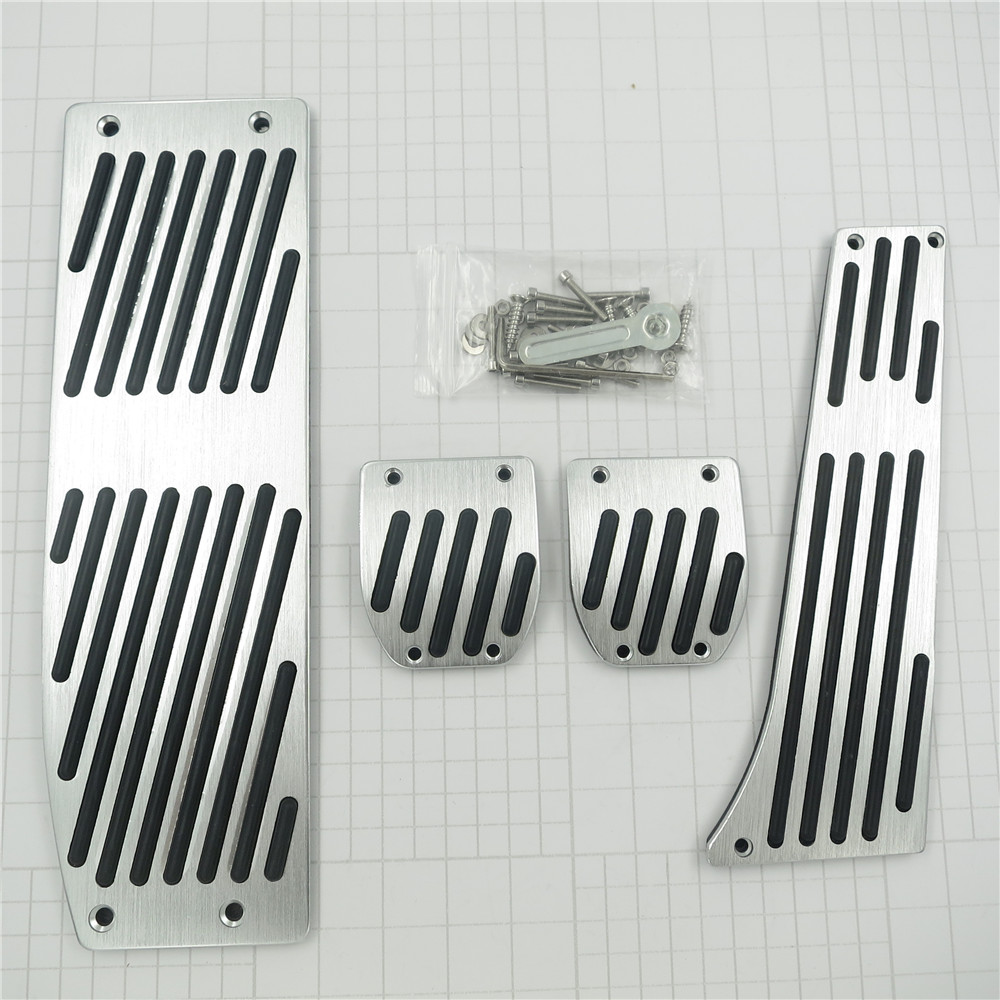 Accesorio para BMW X1 3 5-Series E30 E32 E34 E36 E38 E39 E46 E87 E90 E91 E92 X5 X3 Z3 AT / MT Gas Foot Rest Modificar Pedal Pad Pegatinas