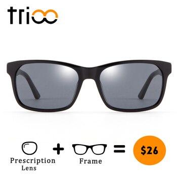 6891c51dde TRIOO miope gafas de conducir para los hombres negro UV400 anteojos de sol  recetados dioptrías óptico gafas menos polarizado