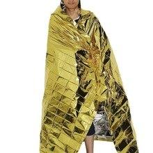 210*130 см наружное туристическое водонепроницаемое военное одеяло для аварийной ситуации спасательное изоляционное занавес одеяло серебряное