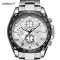 TOP Brand LONGBO Quartz Watch Luxury Steel Men Watch Fashion Sports Wristwatch Clock Water proof relogio masculino watches 8786