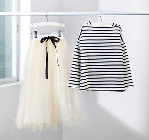 <font><b>Girls</b></font> clothing set 2018 new child clothing <font><b>teenager</b></font> kids <font><b>clothes</b></font> striped full sleeved t shirt + long skirt 2 piece for age 4-12 image