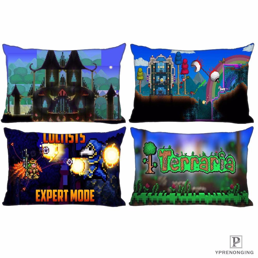 Best Custom Terraria Pillow Covers Cases  Rectangle Pillowcases Zipper 35x45cm (One Side Print)180516-sina-01