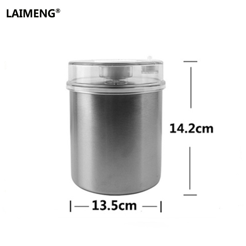 Laimeng Food Vacuum Containers Stainless Compatible With Vacuum Pump Vacuum Sealing Machine 1000ML Free Shipping greenco mini food storage containers condiment and sauce containers baby food storage and lunch boxes leak resistant 2 3 oz each round containers set of 20