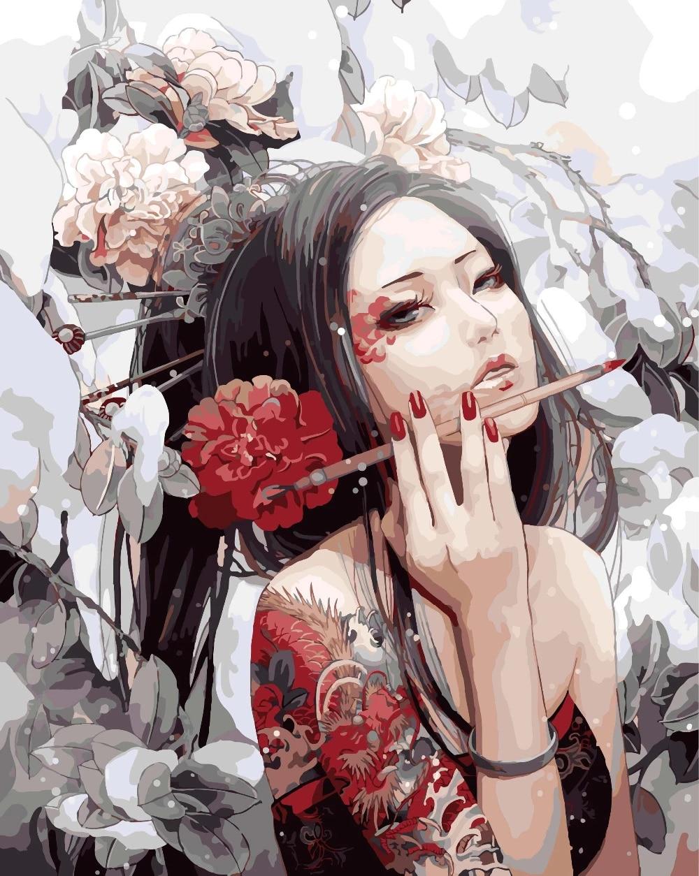 Mädchen bilder malen schöne Hübsche Tumblr