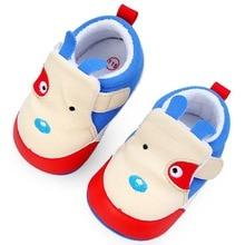 Новое Прибытие Хлопок Лоскутное Животных Pattern Жесткий Sole Девочка и Мальчик Малыша Обувь Prewalker Для 0-15 Месяцев