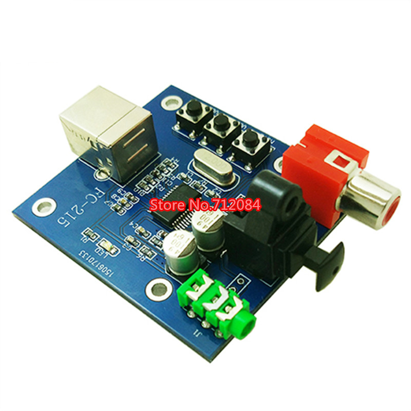 PCM2704 USB sound card DAC decoder module USB Input Coaxial Optical fever HIFI sound decoder usb dac h1 hifi mini computer external sound card chip pcm2704 digital pc black 2017 hot sale with cable