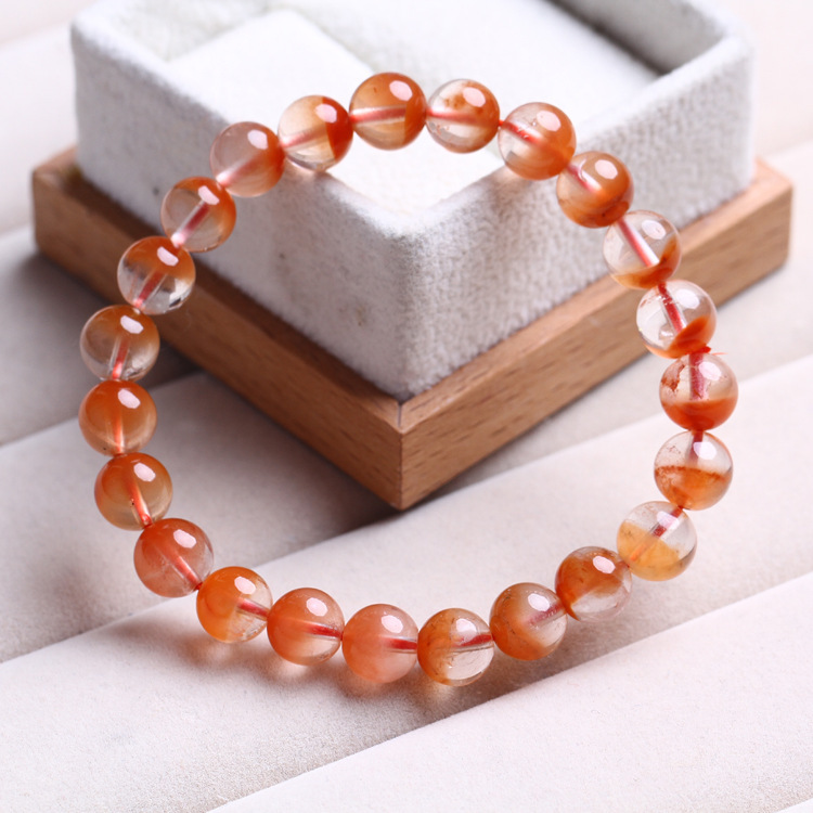 Rouge lapin cheveux Cornucopia Bracelet mâle main chaîne recruter richesse amoureux cadeau cristal ornements mode 10mm