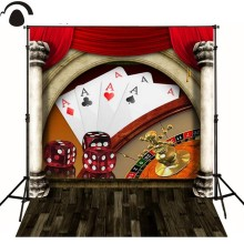 Poker Dice casino plank curtain photography background  Vinyl cloth High quality Computer printed casino photo  backdrop