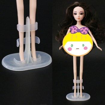 3 pièces/lot Support de poupée présentoir pour poupées Stands poupée accessoires poupée Support jambe supports Transparent