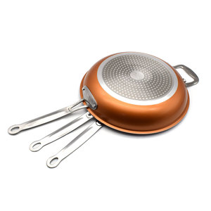 Image 4 - Sweettreats A Set 8/10/12 inch Non stick Copper Frying Pan with Ceramic Coating and Induction cooking+1 pc Utility Healthy Food