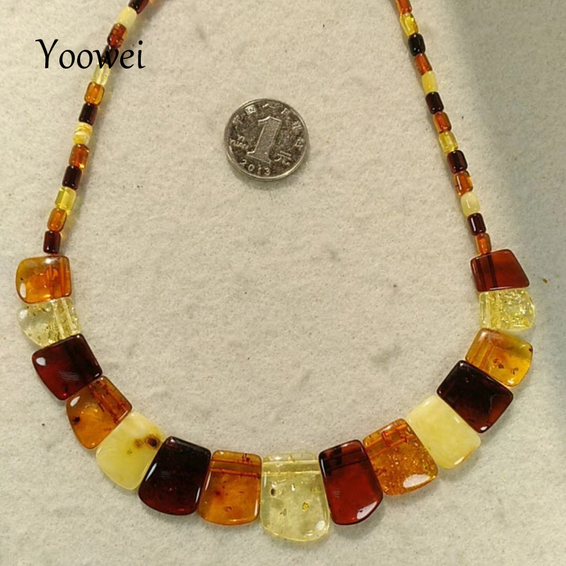Yoowei Brand New Baltic Amber Necklace for Women Genuine Natural Gems Jewelry Amber Adult Gift Original Amber Necklace Wholesale yoowei wholesale original amber necklace for kids adult natural beads baby amber teething necklace baltic amber jewelry 10 color