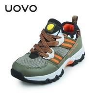 Uovo Brand Kids Outdoor Sport Shoes EU Size 30 37 Big Boys Slip resistant Fashion Sneakers Walking Climb Travel Shoes Zapatos