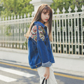 2017 Womens Jeans Jacket Autumn Loose Geometrical Patchwork Designs Denim Jackets Outerwear Female HARAJUKU Long-sleeve Top Coat