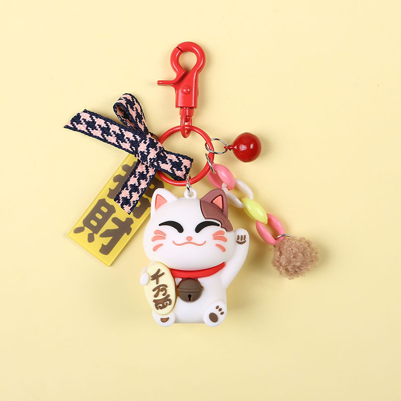 2019 Cat Cute Women Key Chain Cartoon Animal Pvc Pig Keychain Girl keyring Bag Charm Pendant