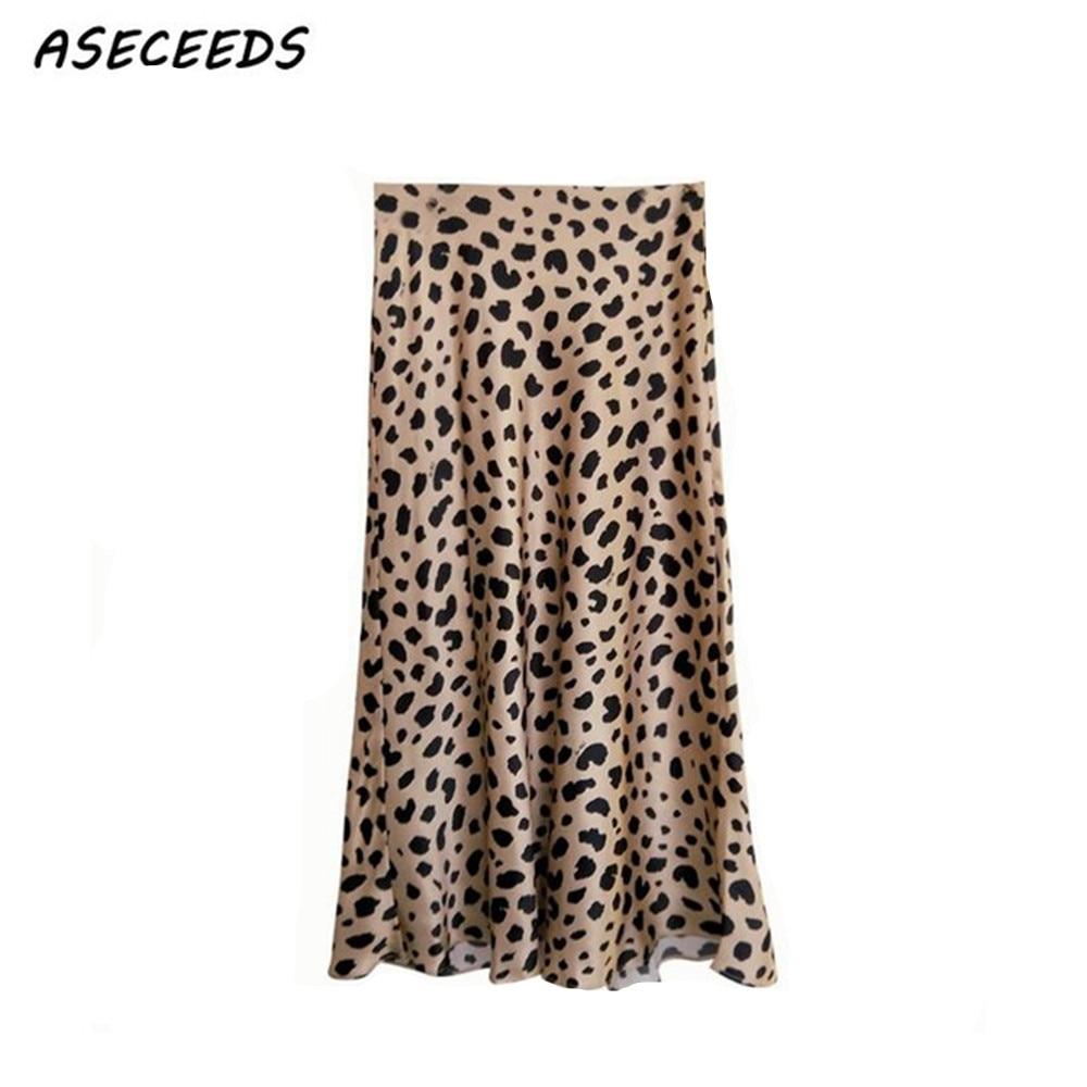 2018 Verão vintage saia de cintura alta saias das mulheres da cópia do leopardo do punk rock estilo coreano boho jupe femme streetwear