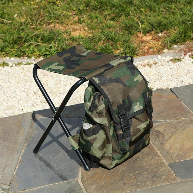 dobravel cadeira pesca fezes acampamento mochila 04
