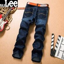 SuLEE Brand 2017 Four Season wear Men  Jeans Top quality High Grade Slim  jeans Straight Retro men Denim jeans