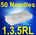 Tattoo Needles Size 1,3,5RL Assorted Size 50Pcs