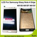 100% de trabajo enviando befire AAAA Calidad LCD Con Pantalla Táctil reemplazo para samsung galaxy note 4 edge n915 negro blanco color