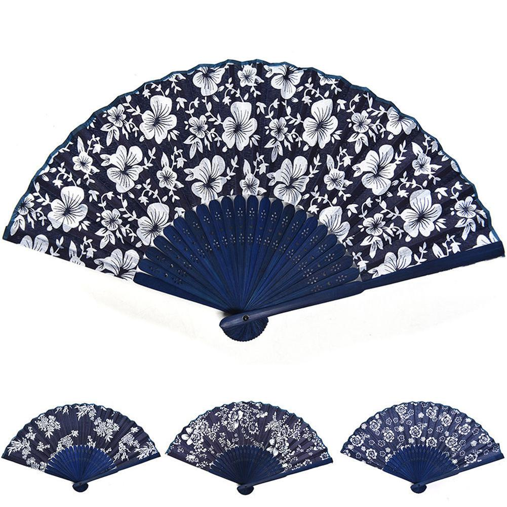 Spanish Style Hand Fan Lace Silk Fan Dance Wedding Party Home Decoration Hollow Engraving Hold Fans Party Supplies