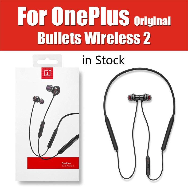 Google Assistant Original Oneplus balles sans fil 2 bluetooth casque chaîne Charge écouteurs contrôle magnétique pour Oneplus 7 Pro