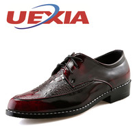 Men Leather Shoe Casual New 2017 Patent Leather Shoes Man Fashion Lace Up Dress Shoes Superstar