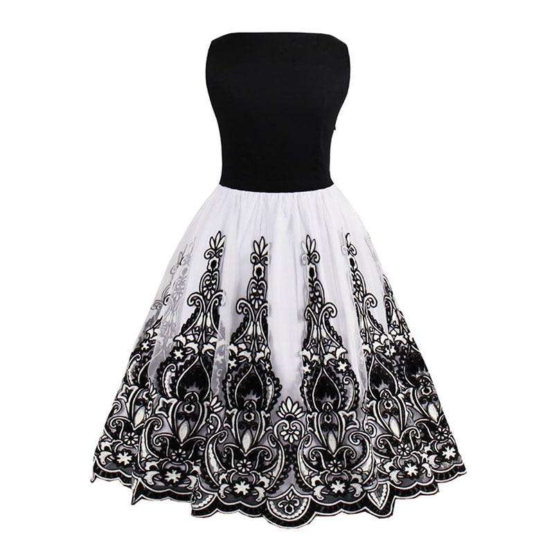 Sisjuly vrouwen vintage jaren 1950 stijl jurken bloemenprint - Dameskleding - Foto 5