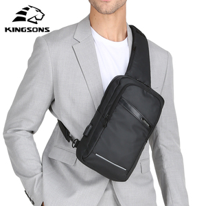 Image 5 - Kingsons New 10 Chest Bag High quality Crossbady Bags Single Shoulder Strap Back pack Business Travel Casual Bags Hot Sale