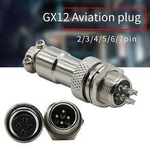 GX12 Aviation Connector Plug Socket 2 3 4 5 6 7pin Air Plug Male Female Connectors Plug Socket for Automation Industrial Equipme цена 2017
