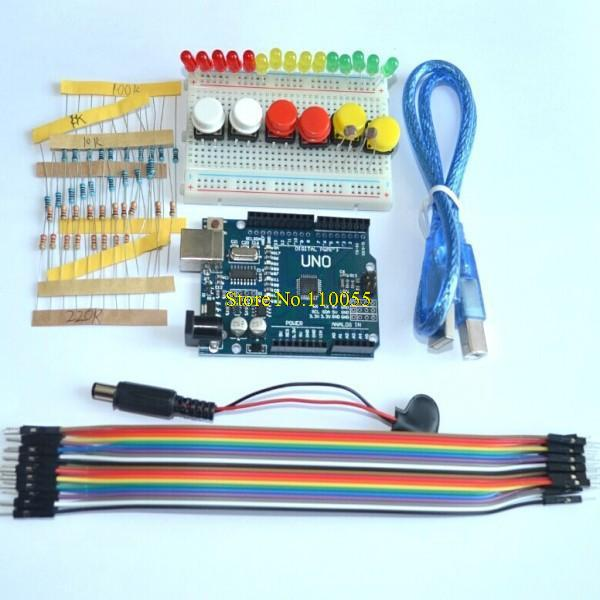 new Starter Kit UNO R3 mini Breadboard LED jumper wire button ...