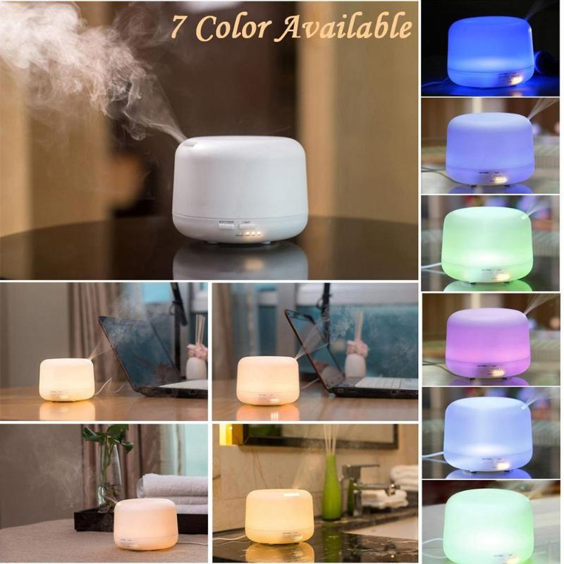 Home Office 300mL and 500ML 100-240V 12W Ultrasonic Colorful LED Air Humidifier Aromatherapy Essential Oil Mist Aroma Diffuser hot sale humidifier aromatherapy essential oil 100 240v 100ml water capacity 20 30 square meters ultrasonic 12w 13 13 9 5cm