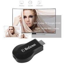 Novo Receptor Mini Android Airplay WiFi Mostrar Dongle HDMI Multi-tela de 1080 Full HD Audio Video Receiver Para Android IOS TV