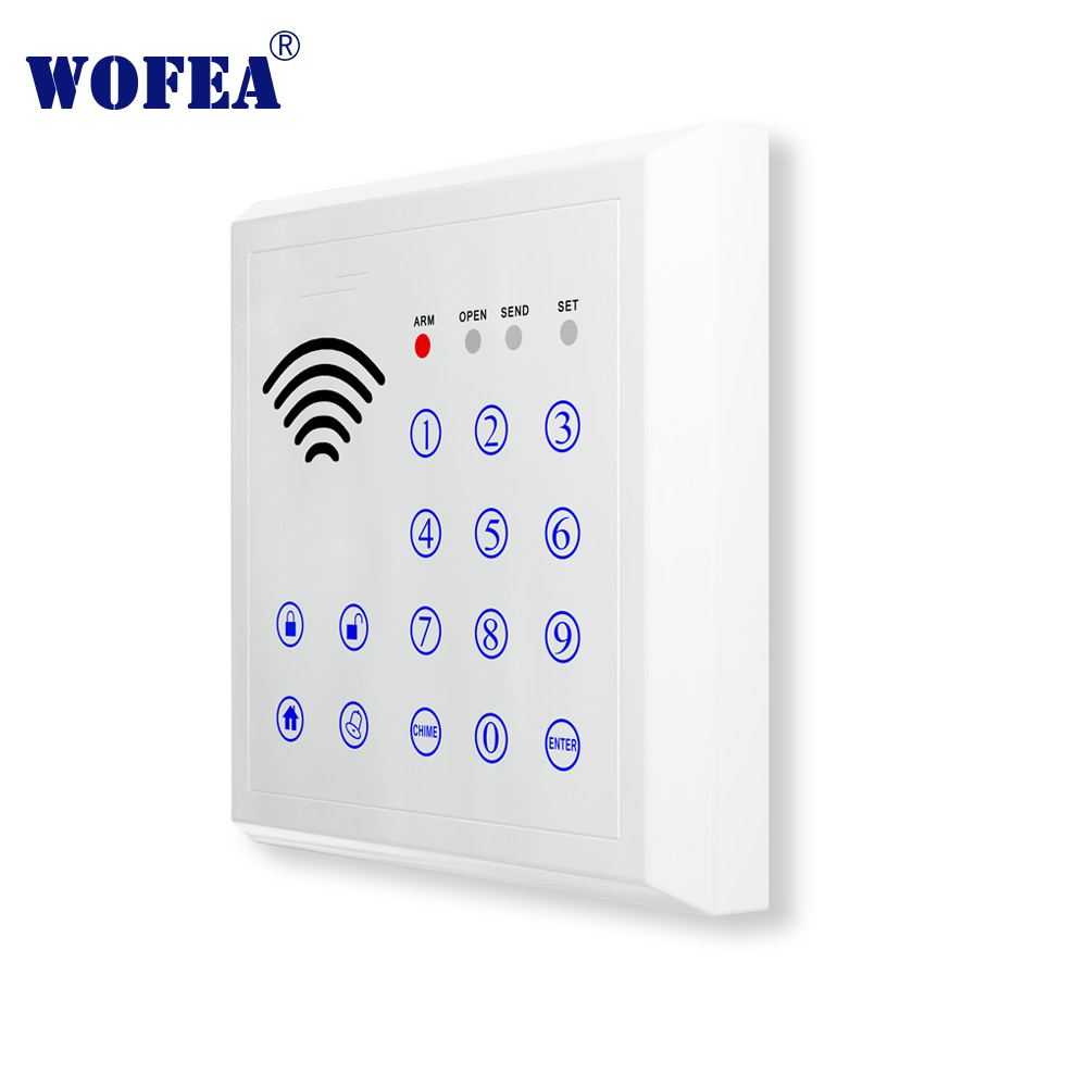 Wofea Wireless Alarm Keyboard To Arm / Disarm Touch Keypad Password Input RFID Tage Magnetic Lock Control