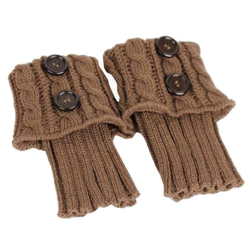 Dec17 kobiet zima drutach getry osłona buta utrzymać ciepłe skarpety jednolity kolor panie