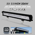 336W 23 Inch 5D Cree Chips Straight Work Lights Combo High Quality LED Light Bar Off-road Driving Lamp Truck Trailer Car Lamps