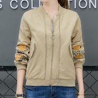 Elegant Autumn Winter Jackets for Women Clothing with Embroidery Jaquetas Feminina All Match New Ladies Coats E0314