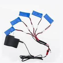H107 3.7V 500mAh LiPo Battery with cable charger plug Hubsan H107 h107c H107P YD928 U816 rc Wltoys Walkera Mini Quadcopter 5pcs