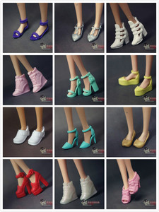 Image 1 - Wholesale doll shoes  nice Children  Girls Gift pullip Doll Accessories lot shoes Princess sexy casual For Barbie Doll