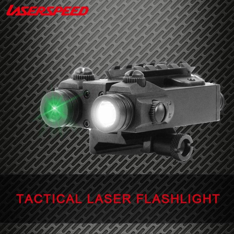 Laser vert Laserspeed LS-CL4-G avec lumière LED Laser vert tactique Combo pour la chasse