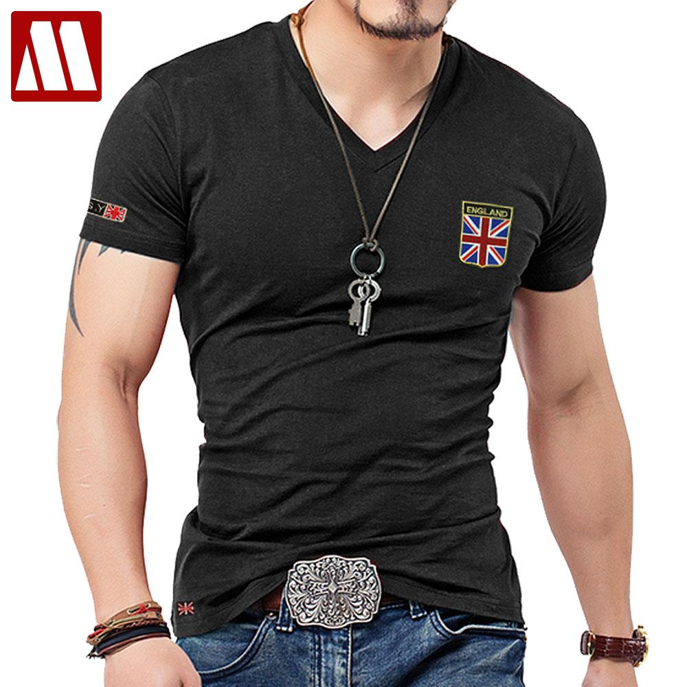 buy mydbsh brand men t shirt cotton union jack clothing male slim fit tee shirt. Black Bedroom Furniture Sets. Home Design Ideas