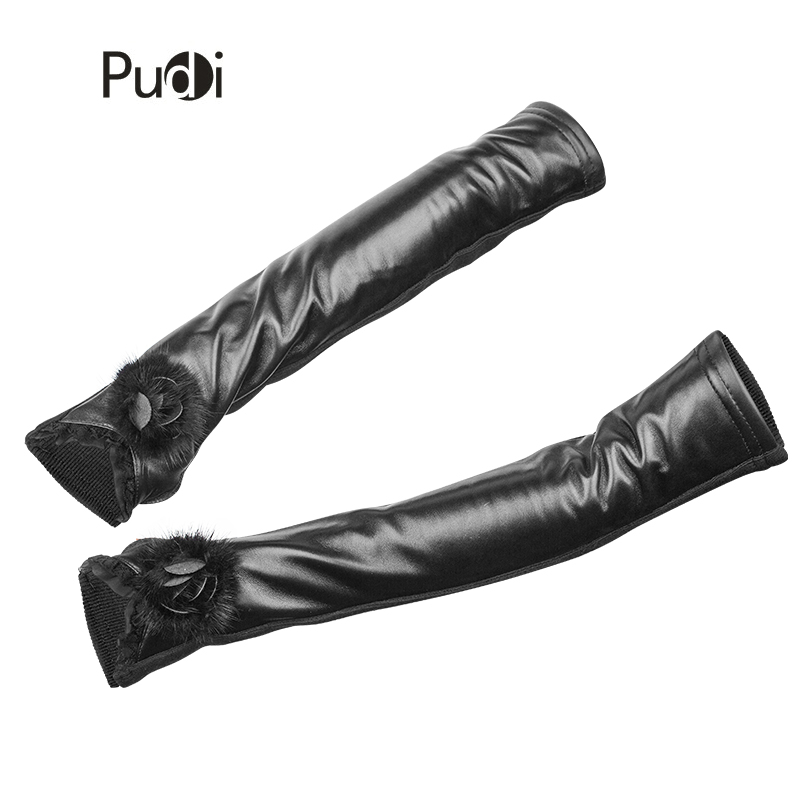 Earnest Pudi Gl802 Women Sheep Leather Black Glove 2018 New Fashion Brand Gloves With Real Mink Fur Flower Sale Price Back To Search Resultsapparel Accessories