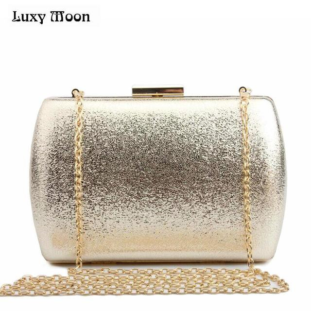 Luxy Moon Bling Evening Clutch Bag Gold Silver Day Purse Fashion Women Wedding Party