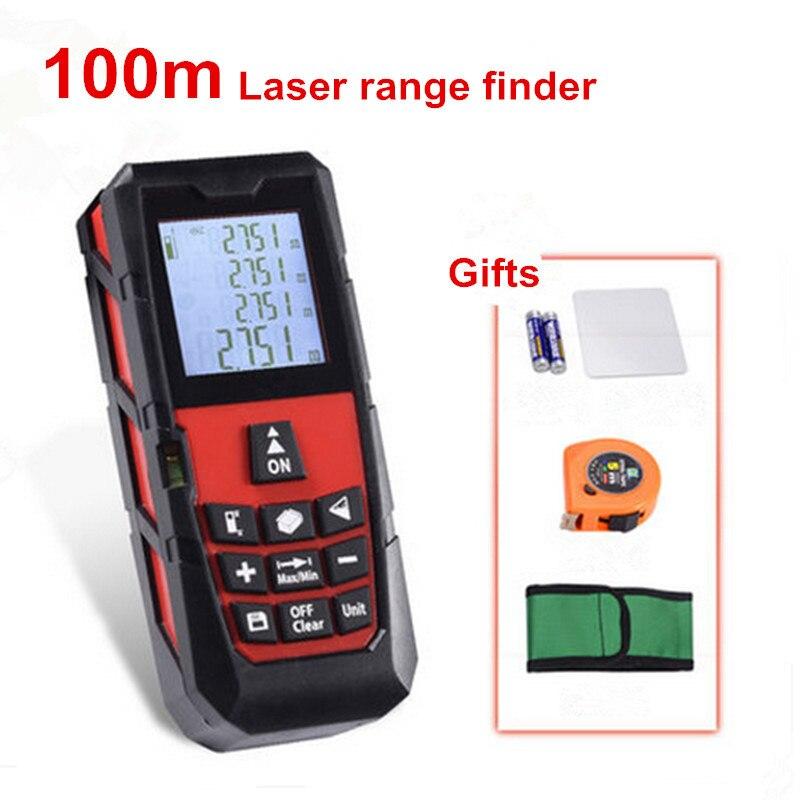 Rangefinder Laser Distance Meter Digital Laser Electronic Ruler Tape Measure 40m/60m/100m Tester Area/volume Lazer Metreler  цены