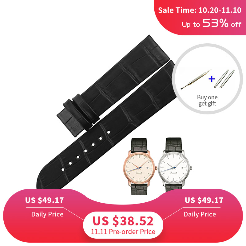 ISUNZUN Women Watch Straps For Mido Baroncelli M027 Genuine leather Bracelet High Quality Watch Band for Men with Pin Buckle 6mm 8mm 10mm genuine leather ultrathin spun silk watchband for women ladies small size watch straps bracelet pin buckle