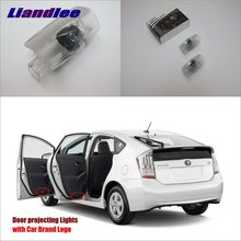 Liandlee Plug and Play Car Courtesy Doors Lights For Toyota Prius 2006~2015 Brand Logo Projector Welcome Light Ghost Shadow Lamp liandlee plug and play car courtesy doors lights for volvo s80 2013 2014 brand logo projector welcome light ghost shadow lamp