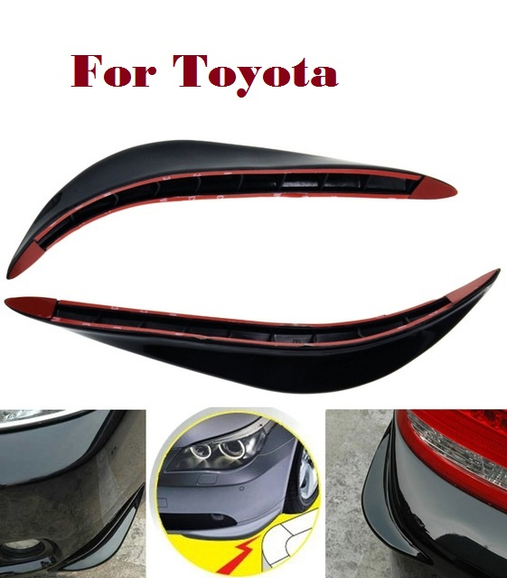 2PCS Car Cover Stickers Protector Guard for Toyota Camry Solara Celica Celsior Century Corolla Corolla Fielder bumper strip 2017 chromed abs plastic car side air vent fender cover sticker for toyota camry solara celica celsior century corolla fielder