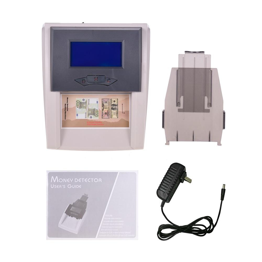 Портативный автоматический детектор денег Настольный Счетный фальшивый счетчик банкнот с ЖК-дисплеем