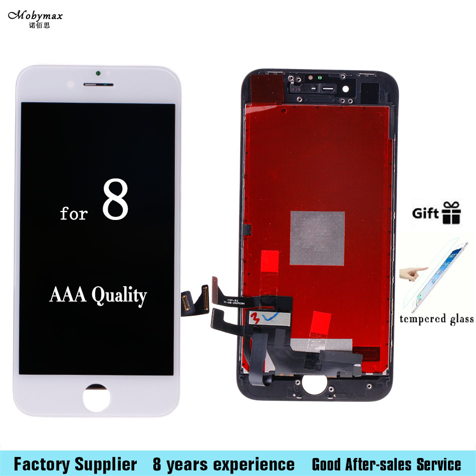 Mobymax Grade AAA Quality LCD Display For Apple iPhone 8 A1863 A1905 LCD Touch Screen Digitizer Assembly With Tempered Glass