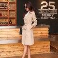 Moda Sólidos Casaco de Inverno Mulheres Trench Coat Longo Casacos Roupas Soltas Venda Quente Cor Sólida Casual Trench Coat Com Cinto